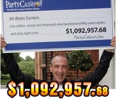 1M jackpot Brian Somers