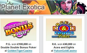 CR winners planet exotica slot