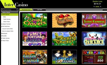 Intercasino new games 2011