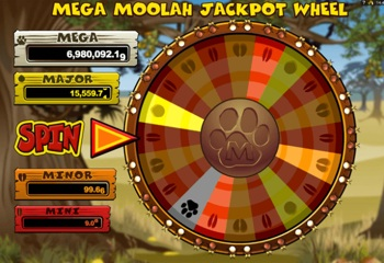 mega moolah wheel